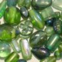 Mix Glass Beads Rainbow- Green