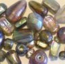 Mix Glass Beads Rainbow- Purple