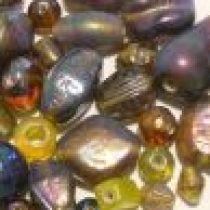 Mix Glass Beads Rainbow-Topaz