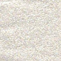 Miyuki Delica Bead Size -11- White Pearl AB-DB202