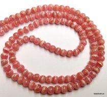 Rhodocrosite Round -3mm Beads- 16
