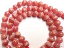 Rhodocrosite Round -6mm Beads- 16