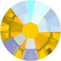 Swarovski Crystal Flatback Hotfix 2038 SS-6 ( 1.95mm) - Light Topaz Shimmer (F)- 1440 Pcs