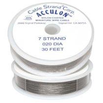 Tiger Tail -Acculon .020 (7 Str.) -30 Feet Spool -Clear