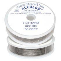 Tiger Tail -Acculon .022 (7Str.) -30 Feet Spool - clear