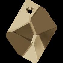 Swarovski Cosmic (6680) Pendant -14mm -Crystal Golden Shadow