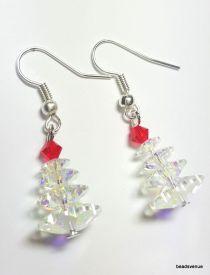 Christmas Earring Swarovski Crystal Kit-Crystal AB4 & Lt. Siam