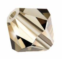 Preciosa® Crystal Bicone Beads Crystal Honey