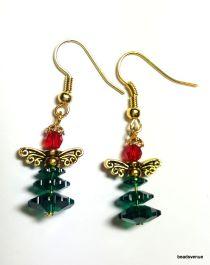 Christmas Earring Swarovski Crystal Kit-Emerald & Lt. Siam