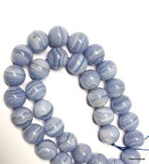 Blue Lace Agate Round -12mm - 40 cms. Str.