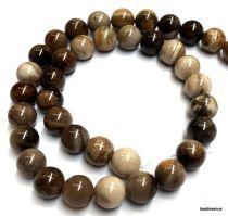 Petrified Wood Beads Round -10mm- 40 cms. Strand