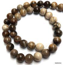 Petrified Wood Beads Round -8mm- 40 cms. Strand