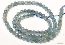 Aquamarine Beads Round -4mm -40 Cms. Strand