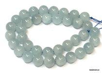 Aquamarine Beads Round -10mm-40cms.Strand