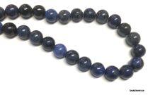 Dumortierite Beads Round 8mm- 40 cms. Strand