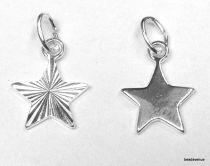 Sterling Silver Diamond Cut Star W/open Jump ring -12mm
