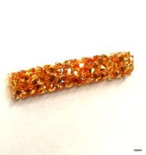 Swarovski  5951 Fine Rock Tube Bead Without Ending -30 mm-Metallic Sunshine