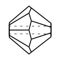 Preciosa® Crystal Bicone Beads Indicolite AB 2X