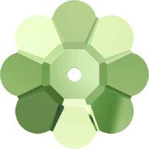 Swarovski Crystal 3700 Margarita Flower -12mm- Peridot-Factory pack