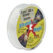 Stretch Magic 0.8 mm Clear - 25mtr. roll