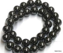 Hematite Round Beads - 12 mm - 40 cms. Strand