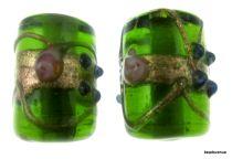 Wedding Cake  Tube 16x12mm Beads - Peridot