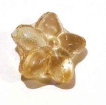 Glass Flower Bead 15x 8m- Peach Colour