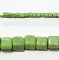 Glass Cubes Strands 10mm- Green(opaque)