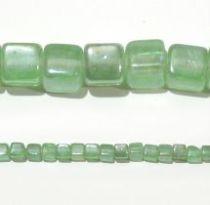 Glass Cubes Strands 10mm-Lt. Green