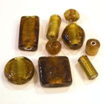 Foil Beads Mix -Amber