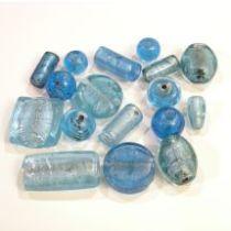 Foil Beads Mix -Lt.Blue