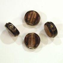 Foil Beads Flat Disc-14mm- Lilac