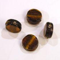 Foil Beads Flat Disc-14mm- Dark Brown