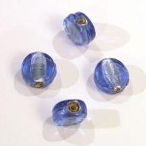 Foil Beads Flat Disc-10mm- Sapphire