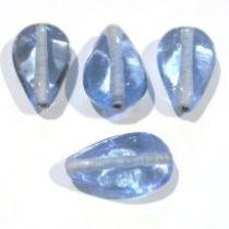 Glass Flat Pear Bead 20x11x7-Sapphire