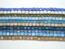 Assorted Glass Cubes Strands- 10mmx10 str.