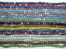 Assorted Glass Cubes Strands- 6mmx10 str.