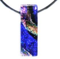 DICHORIC GLASS - Pendants -Blue