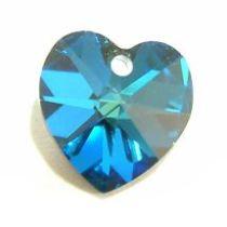 Swarovski Pendants Heart - 14mm Bermuda Blue