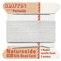 Griffin Natural Silk Bead Cord-White (No. 7 )