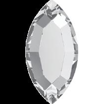 Swarovski Crystal Flatback No Hotfix 2200 Navette Flat Back (4.00x2.00mm) - Crystal (F) -  720 Pcs