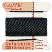 Griffin Natural Silk Bead Cord-Black (No. 2 )
