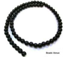 Black Onyx (dyed) Plain R-4mm -16