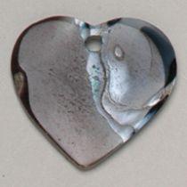 Black agate Heart 20 mm
