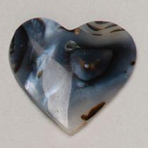 Balck Agate Heart -25mm