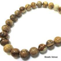 Picture Jasper Beads Round -8 mm