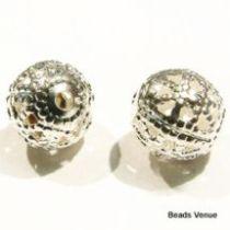 Filigree Round -8mm Balls S/P- Wholesale Pack
