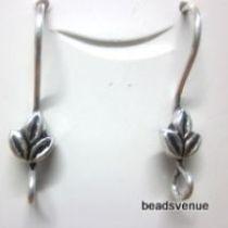 Sterling Silver Earwire Flower Design