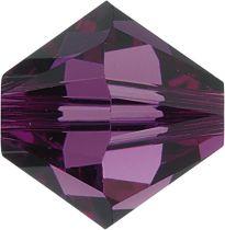 Swarovski  5328 Bicone- 3mm Crystal Amethyst