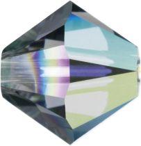 Swarovski  Bicone 5328-4mm - Black Diamond AB